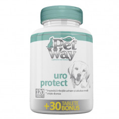 Supliment nutritiv pentru caini Petway Uroprotect, 120 tablete + 30 bonus