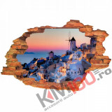 "Sticker ""Wall Crack"" Santorini 6 - 120 x 80 cm"
