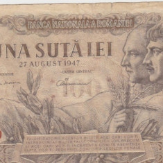ROMANIA 100 LEI 27 AUGUST 1947 F