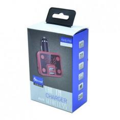 Modulator FM, 2 intrari USB, Mp3, TF, 24V, AUX, Wireless, KCB-910