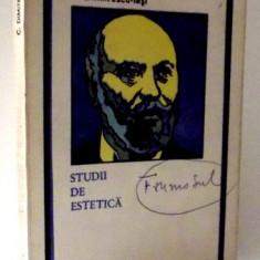 STUDII DE ESTETICA de C. DIMITRESCU , 1974