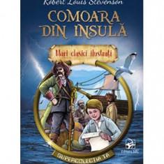 Comoara din insulă. Mari clasici ilustrați (repovestire)