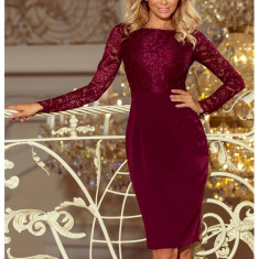 Rochie eleganta burgundy