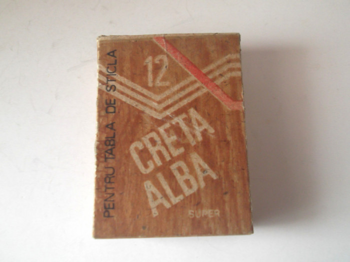 CRETA ALBA ptr.tabla de sticla , anii '80