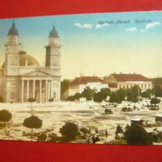 Ilustrata Sighetu Marmatiei -Piata Deak -azi Pta Libertatii 1916, Circulata, Printata