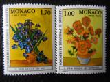 Serie timbre flora flori plante Monaco nestampilate timbre filatelice postale