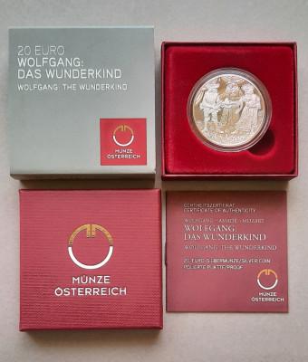 Moneda tematica de argint - 20 Euro 2015, Austria - Proof foto