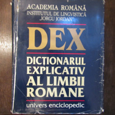 Dex , Dictionarul explicativ al limbii romane ,an 1996