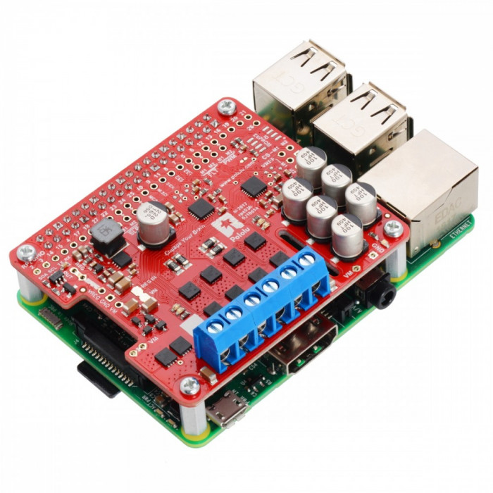 Driver de Motoare Pololu G2 24v14 pentru Raspberry Pi (asamblat)