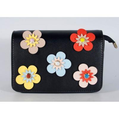 Poseta neagra cu flori (cod 543001) foto