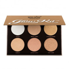 Paleta Iluminatoare si Conturare MISS ROSE Glow Kit Six Color Ultimate Glow