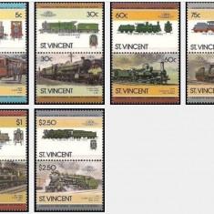 St Vincent 1985 - locomotive, serie neuzata