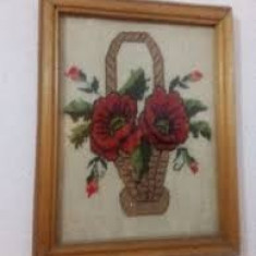 Goblenuri din panza cusuta manual inramat,vezi poze pentru detalii