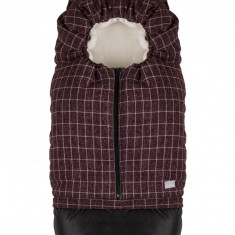 Nuvita Carry On sac de iarna 80 cm Checkered cranberry Beige 9845
