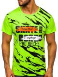 Tricou cu imprimeu bărbați verde Bolf KS1951