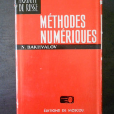 N. BAKHVALOV - METHODES NUMERIQUES