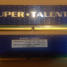 Memorie Ram 4GB DDR2 radiator Kit (2 x 2GB ) SUPER TALENT T800UX2GC4