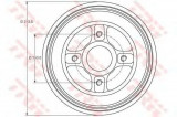 Tambur frana RENAULT MEGANE I (BA0/1) (1995 - 2004) TRW DB4214MR