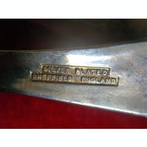 Set lingurite scoica Sheffield placate argint colectie, cadou, vintage