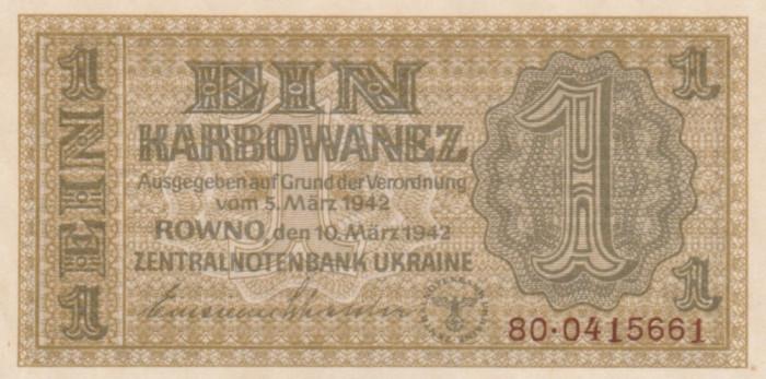 Ucraina  1 Karbowanez 1942  P-49  UNC