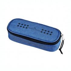 Penar borseta 1 fermoar oval Faber Castell Grip albastru 573051