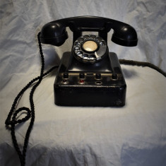 Telefon romanesc cu centrala - din bachelita / ebonita - RS 71468 - 1975