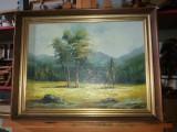Tablou ulei pe panza  - Poiana, Peisaje, Realism