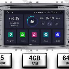 NAVIGATIE FORD FOCUS MONDEO S MAX Transit Tourneo ANDROID 9 Octacore PX5 4GB RAM + 64GB ROM CU DVD 7 INCH AD BGWFORDO7P5 S