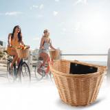 Cumpara ieftin Cos rachita pentru bicicleta, detasabil cu sistem clip on, montare pe ghidon, maro natur