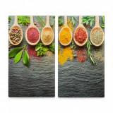 Cumpara ieftin Set 2 placi din sticla, protectie plita, Spices, L30xl52 cm
