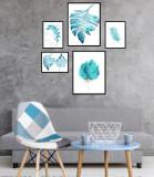Cumpara ieftin Set 5 tablouri decorative Frunze, Heinner