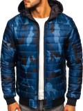 Geacă sport bărbați camuflaj-bleumarin Bolf MY13M