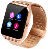 Ceas Smartwatch cu Telefon iUni GT08s Plus, Curea Metalica, Touchscreen, BT, Camera, Notificari, Gold
