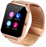 Cumpara ieftin Ceas Smartwatch cu Telefon iUni Z60, Curea Metalica, Touchscreen, BT, Camera, Notificari, Gold