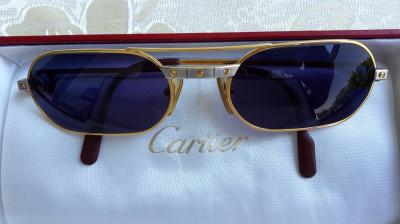 en-gros online cel mai bun loc design rafinat Ochelari soare de lux ORIGINALI Cartier Santos Gold / Platinum ...