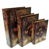 Set 3 cutii-carte Motocicleta Retro