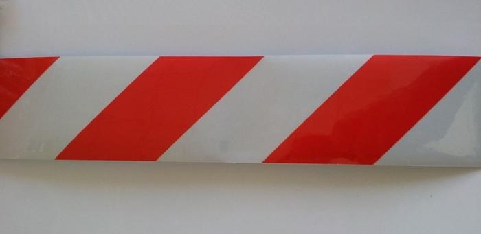 Banda reflectorizanta Alb-Rosu 30cm x 5cm (set/2buc) ManiaCars