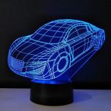 Lampa de Veghe cu Telecomanda si Baterii/USB 3D Model Masina Multicolor