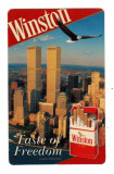 CALENDAR DE BUZUNAR 1998 RECLAMA TIGARI WINSTON ROMANEASCA