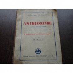 ASTRNOMIE - GH.DUMITRESCU, AL.ANDRONIC