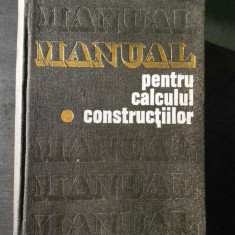 ANDREI D. CARACOSTEA - MANUAL PENTRU CALCULUL CONSTRUCTIILOR volumul 1