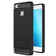 Husa Iberry Carbon Neagra Pentru Huawei P10 Lite 2017