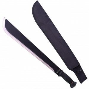 Maceta lunga 57,5 cm cu maner ergonomic si teaca inclusa, negru