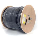 Cumpara ieftin Cablu coaxial F690BV + gel negru, 305 m