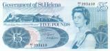 Bancnota Saint Helena 5 Pounds (1981) - P7b UNC ( format mare )