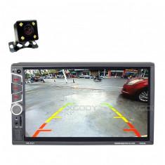 Mp5 Fm Player Auto 7032UM Ios Si Android 2 Din Port Usb Dublu Touch screen Usb Bluetooth 60w X 4 Mirror Link Cu 7 Culori Panoului + Camera Marsarier