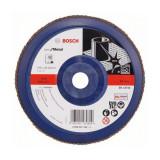 Disc evantai pentru slefuire Bosch, 180 x 22.23 mm, granulatie 40
