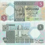 1991, 5 dinars (P-55) - Libia!