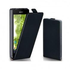 Husa Flip Vertical Sony Xperia Z1 Black Oxo