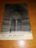 Vedere  Paris  1914-Notre Dame Portail du Jugement, Franta, Circulata, Fotografie